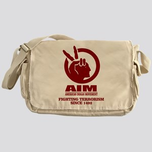 AIM (Fighting Terrorism Since 1492) Messenger Bag