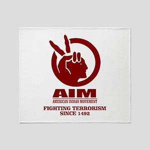 AIM (Fighting Terrorism Since 1492) Throw Blanket