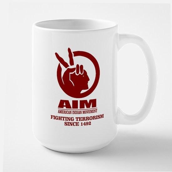 AIM (Fighting Terrorism Since 1492) Mugs