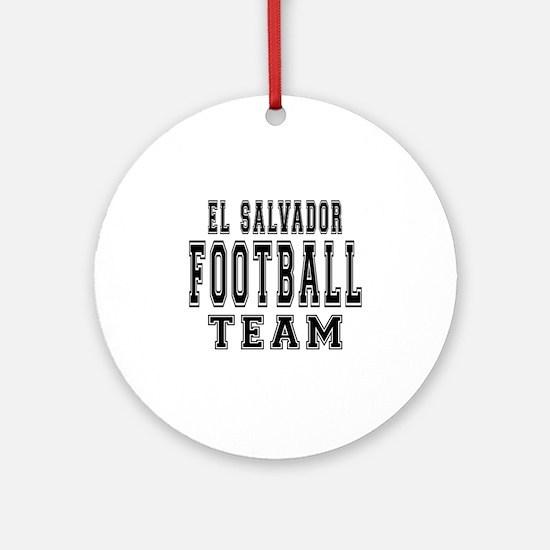 El Salvador Football Team Ornament (Round)