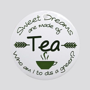 Sweet Dreams Green Ornament (Round)