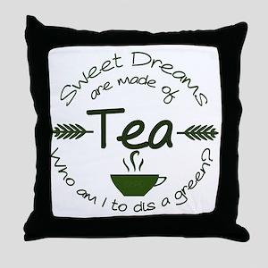 Sweet Dreams Green Throw Pillow