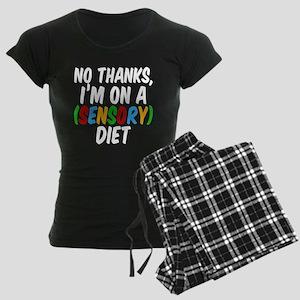 Funny Sensory Diet Women's Dark Pajamas