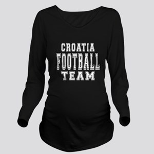 Croatia Football Tea Long Sleeve Maternity T-Shirt