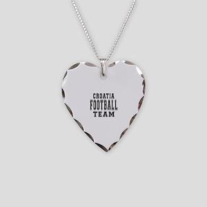 Croatia Football Team Necklace Heart Charm