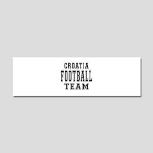 Croatia Football Team Car Magnet 10 x 3