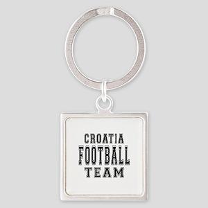 Croatia Football Team Square Keychain