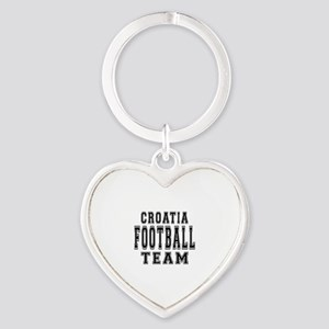 Croatia Football Team Heart Keychain