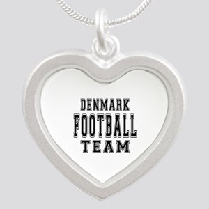 Denmark Football Team Silver Heart Necklace