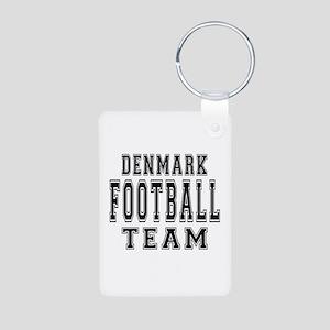 Denmark Football Team Aluminum Photo Keychain