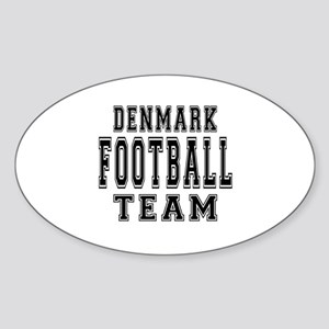 Denmark Football Team Sticker (Oval)