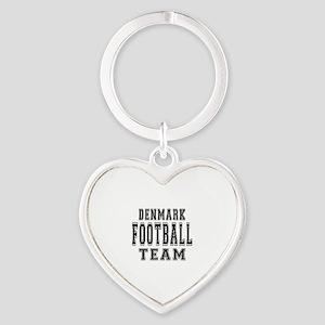 Denmark Football Team Heart Keychain