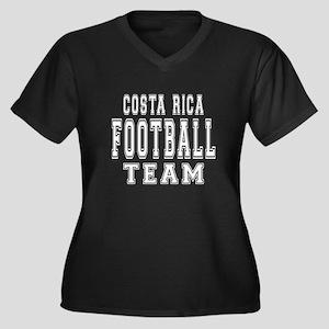 Costa Rica F Women's Plus Size V-Neck Dark T-Shirt