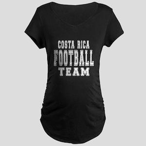 Costa Rica Football Team Maternity Dark T-Shirt