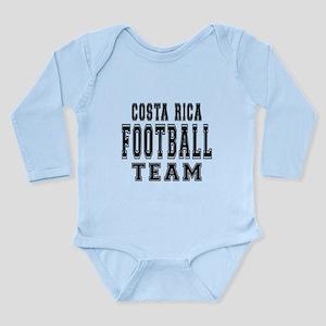 Costa Rica Football Te Long Sleeve Infant Bodysuit