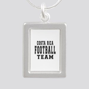 Costa Rica Football Team Silver Portrait Necklace
