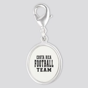 Costa Rica Football Team Silver Oval Charm