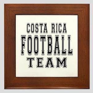 Costa Rica Football Team Framed Tile
