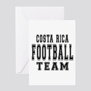 Costa Rica Football Team Greeting Card