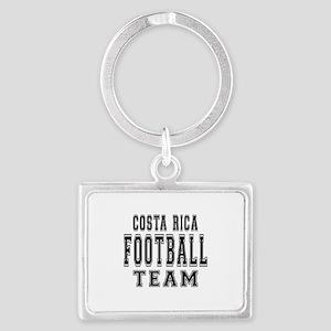 Costa Rica Football Team Landscape Keychain