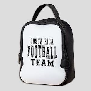Costa Rica Football Team Neoprene Lunch Bag