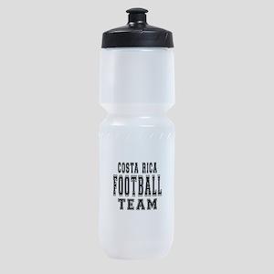 Costa Rica Football Team Sports Bottle