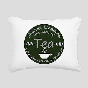 Green Tea Dreams Rectangular Canvas Pillow
