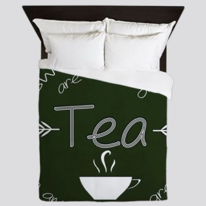 Green Tea Dreams Queen Duvet