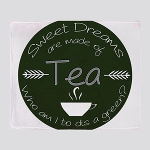 Green Tea Dreams Throw Blanket
