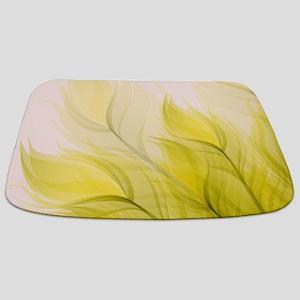 Beautiful Feather Golden Yellow Leaf Bathmat