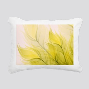 Beautiful Feather Golden Yellow Leaf Rectangular C