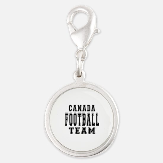 Canada Football Team Silver Round Charm