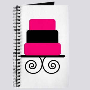 Hot Pink and Black Cake Journal