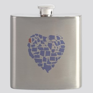 Mississippi Heart Flask