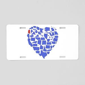 Mississippi Heart Aluminum License Plate