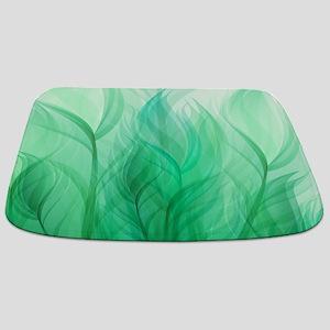 Beautiful Teal Green Feather Leaf Bathmat