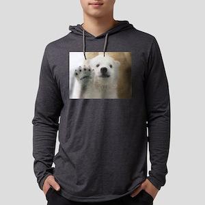 Cute Polar Bear Cub Waving Long Sleeve T-Shirt
