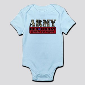 Red Friday Army Infant Bodysuit