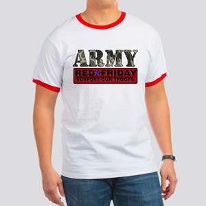 Red Friday Army Ringer T