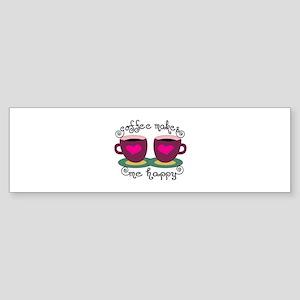 Coffee Makes Me Happy Bumper Sticker