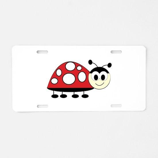 Ladybug Aluminum License Plate