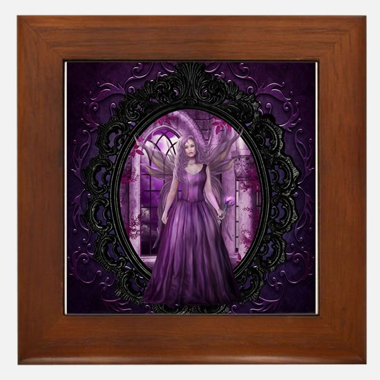 Lavender Fairy Framed Tile