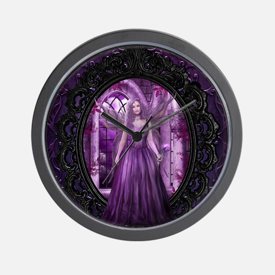 Lavender Fairy Wall Clock