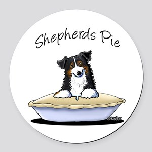 Shepherds Pie Round Car Magnet