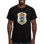 USS DYESS Men's Fitted T-Shirt (dark)