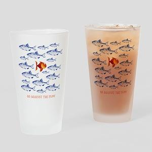11x11_pillowAgainsttheFlow1 Drinking Glass