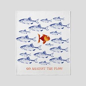 11x11_pillowAgainsttheFlow1 Throw Blanket