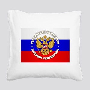 Russian Federation Square Canvas Pillow