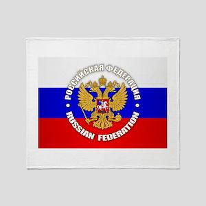 Russian Federation Throw Blanket