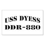 USS DYESS Sticker (Rectangle)